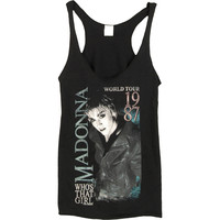Madonna Women's  Who's That Girl Womens Tank Black