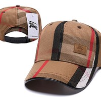 BURBERRY Embroidered Embroidered Outdoor Baseball Cap Hat