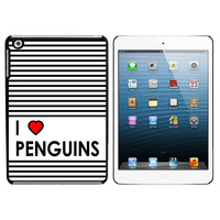 I Love Heart Penguins iPad Mini Case