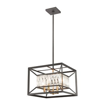 Starlight 4-Light Chandelier in Charcoal with Clear Crystal