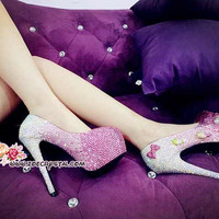 Bling and Sparkly Strass Heels made of Czech / Swarovski crystals