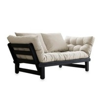 Fresh Futon Beat - Black Frame with Mattress