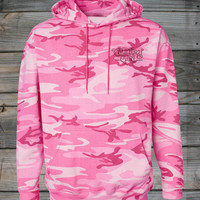 Women's Country Girl ® Angel Wings Pink Camo Hoodie