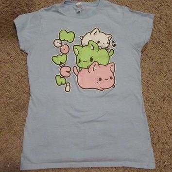 Tasty Peach Studios Meowchi Tee in Pastel Blue LIMITED EDITION/No longer available