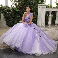 light purple floral ball gown long medieval dress Renaissance ball gown cosplay Victoria Gothic /Marie Antoinette/Belle ball Alternative Measures - Brides & Bridesmaids - Wedding, Bridal, Prom, Formal Gown