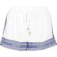 MICHAEL Michael Kors - Embroidered crepe shorts
