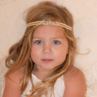 Allure Designs Rosetta Sky Jewelled Headband for babies Girls to Adults {Baby Girl Headband Flower Girl Photoshoot}