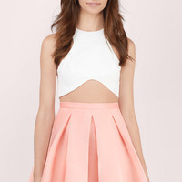 Myah Pleated Skater Skirt