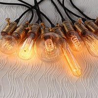 A set of 9 diverse Edison light bulbs with light sockets and cord wire - vintage style for DIY lights - 110v , 220v - special offer!