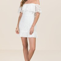 Ali Off Shoulder Lace Dress