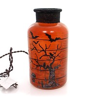Stony Creek Halloween Lit Jar Halloween Decor