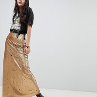 Native Rose Maxi Skirt In Sequin at asos.com