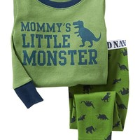 """Little Monster"" PJ Sets for Baby"