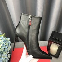 Hot Christian Louboutin Cl So Kate Booty Black Ankle Boots