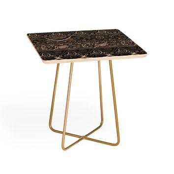 Pimlada Phuapradit Lace drawing charcoal and cream Side Table