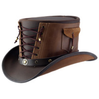 Brown-Vested Steampunk Top Hat - MCI-6017 from Dark Knight Armoury