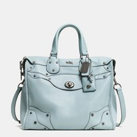 RHYDER 33 SATCHEL IN PEBBLED LEATHER