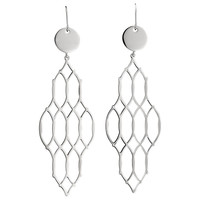 Women's Sterling Silver Eurowire Earrings, LATITUDE Collection