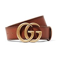 Louis Vuitton LV tide brand female classic double G head simple wild smooth buckle belt