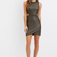 Cutout Metallic Bodycon Dress