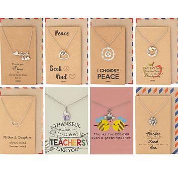 Malia Peace Necklace Bundle Gift Set, Perfect Gratitude Gifts for Women