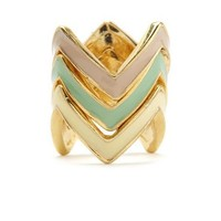 Stacked Zigzag Ring Set: Charlotte Russe