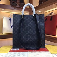 LV Louis Vuitton Women Leather Shoulder Bags Satchel Tote Bag Handbag