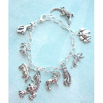 Safari Inspired Charm Bracelet