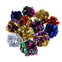 Multicolor Mylar Crinkle Ball Cat Toy