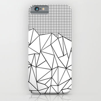 Abstract Outline Grid Black on White iPhone & iPod Case by Project M