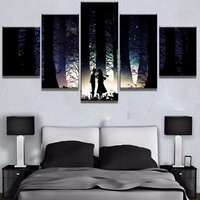 Cool Attack on Titan 5 Panel HD Print Large  Anime Cuadros Decoracion Paintings on Canvas Wall Art for Home Decorations Wall Decor AT_90_11