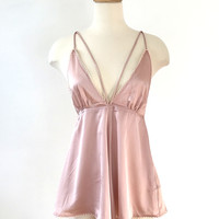 Blush Satin Romper