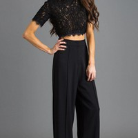Jules Black High Waisted Wide Leg Pants