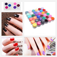 Nail Art UV Nail Gel Professional New 12 Mix Colors Nail Art Tips Shiny Cover Extension Manicure gel tools #M01354