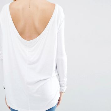 ASOS Scoop V Back With Long Sleeve at asos.com