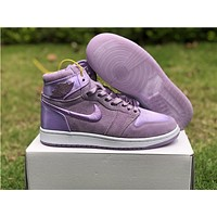 Air Jordan 1 Satin Purple Women Sneaker Shoe 36 40