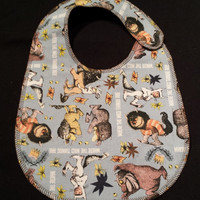 Where the Wild Things Are Baby Bib - Toddler size *Updated Size*