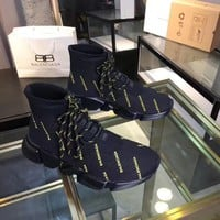 Balenciaga Sock Boots Woman Fashion Breathable Sneakers Running Shoes top quality black size 36-40