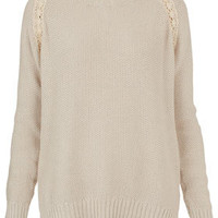 Knitted Lace Shimmer Jumper - Jumpers - Knitwear  - Clothing