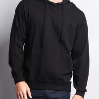 Cross-Dyed Heather Jersey Pullover Hoodie