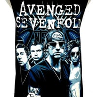Avenged Sevenfold Rock Band Guitar Music Metal T Shirt Tank Top Singlet Vest Sleevless Size M