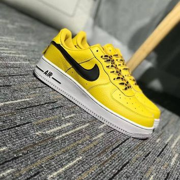 """""""Nike Air Force 1 Low NBA Pack"""" Unisex Sport Casual Letter Shoelace Plate Shoes Couple Fashion Sneakers"""