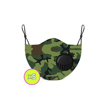 Adult Camo Face Mask x5