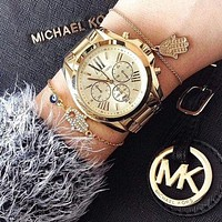 MK Women Men Fashion Quartz Movement Watch F