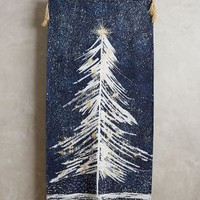 Shimmering Spruce Wall Tapestry by Anthropologie Navy One Size Wall Decor
