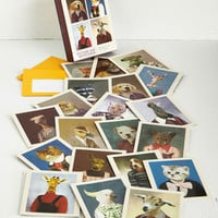 Quirky Heads or Tails Notecard Set by Chronicle Books from ModCloth