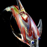 Color Changing Glass Dolphin Pipe - AP212