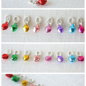 Christmas Party Necklace, Jingle Bell Necklace, Choose your Colors, Musical Fun Colorful Holiday Necklace, Ring in the Holidays