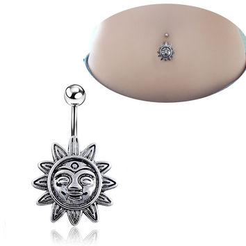 New Charming Dangle Crystal Navel Belly Ring Bling Barbell Button Ring Piercing Body Jewelry (With Thanksgiving&Christmas Gift Box)= 4661792836