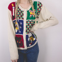 Vintage Candy Cane Ugly Christmas Sweater